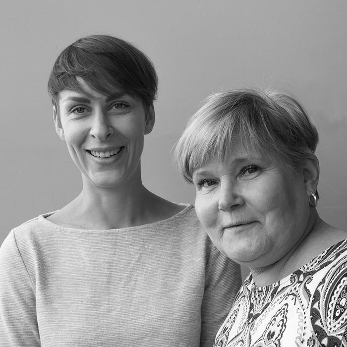 Kirjoittajat Elina Vierimaa ja Tiina Pihlbacka-Rönkä