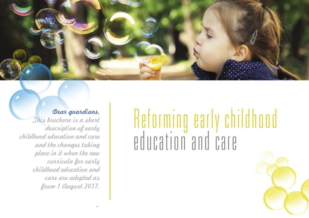 Kansikuva: Reforming early childhood education and care